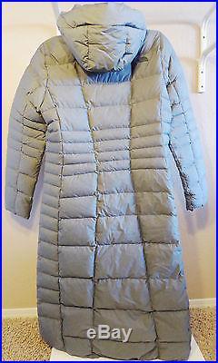 The North Face Femme TRIPLE C II PARKA 550 Duvet D'oie Long Manteau Gris 38 M