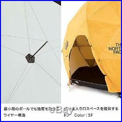 The North Face Geodome 4 Tente avec Empreinte de Pied NV21800 Safran Jaune Neuf