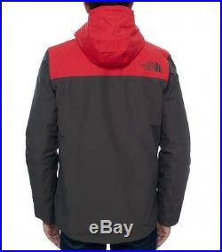 The North Face Hommes Veste D'hiver Himalayan Encre Noire Vert/Tnf Rouge