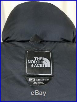 The North Face Noir Isolé Duvet D'Oie Doudoune Doudoune Veste Parka HOMMES S