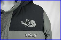 The North Face Nuptse Homme 700 Bas Doudoune Veste Capuche Manteau Hiver Gris L