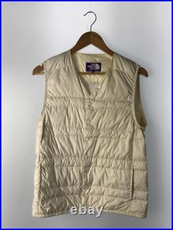The North Face Purple Label Intérieur Gilet Polyester Crème Uni Homme 3j058