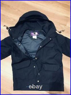 The North Face Violet Étiquette Fabriqué Par Nanamica Vtt Parka Marine Taille M