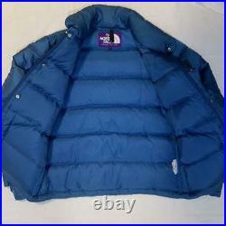The North Face Violet Étiquette Veste Doudoune Marine Taille S Utilisé De Japon