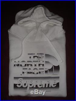 The North Face X Supreme Métallique Sweat à Capuche Logo / Sweat-Shirt. M
