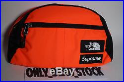 The North Face X Supreme Roo II Lumbar Pack Power Orange Pouch Backpack Duffle