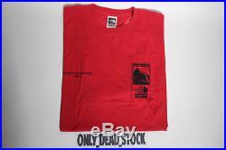 The North Face X Supreme Steep Tech Tee Red T Shirt Box Logo L Cnn Capone White