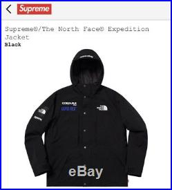 The North Face x Supreme expedition jacket Black L size Large IN HAND fleece