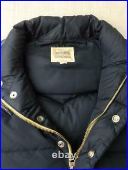 The Real MCCOY'S 34 Nylon Cuir Commutation Étiquette Taille 34 Gilet 1106 Japon
