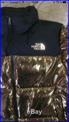 The north face nuptse 1996 metallic cooper jacket