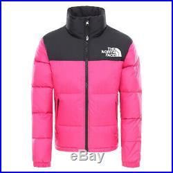 Vêtement Blousons The North Face fille 1996 Retro Nuptse Kids taille Rose Nylon
