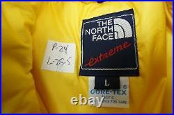 Vintage 27.4ms The North Face Extrême Manteau Veste Gore-Tex Jaune Homme Grand