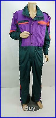 Vintage The North Face Gor Tex Neige Suit Motoneige Violet Multicolor Taille M-S